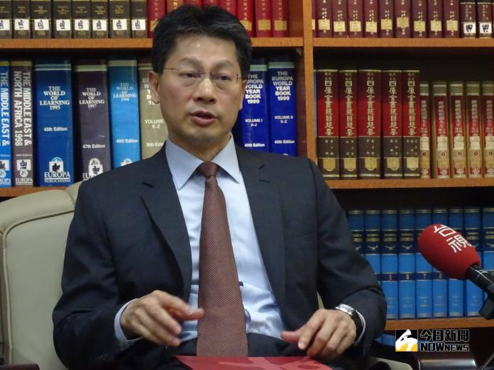 ▲外交部發言人李憲章16日表示,台灣與教廷邦交穩固。(圖/記者呂炯昌攝, 2018.10.16)