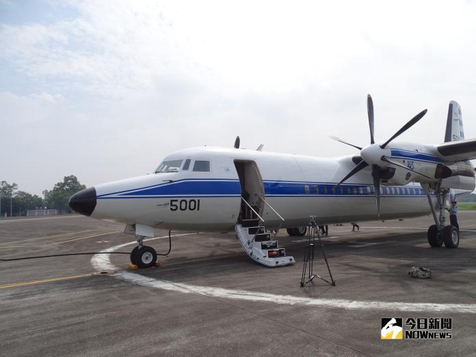 ▲空軍機號5001的福克50(FK50)行政專機,也是總統專機的預備機。(圖/記者呂烱昌攝)