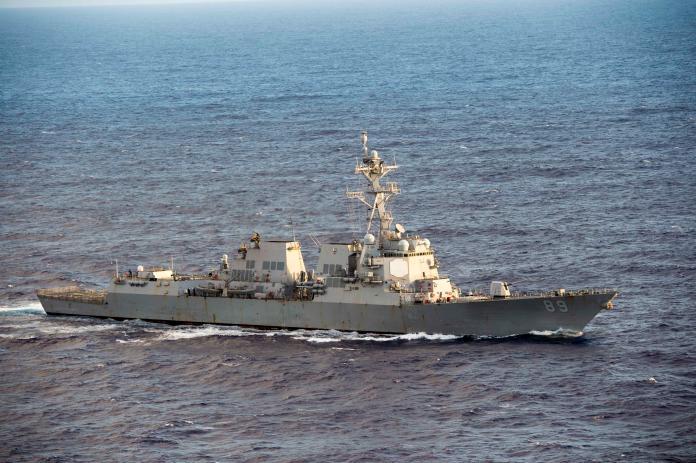 ▲美軍勃克級驅逐艦馬斯廷號( USS Mustin,DDG-89 )今年7月曾通過台海返回日本基地。(圖/美國海軍, 2018.10.22)