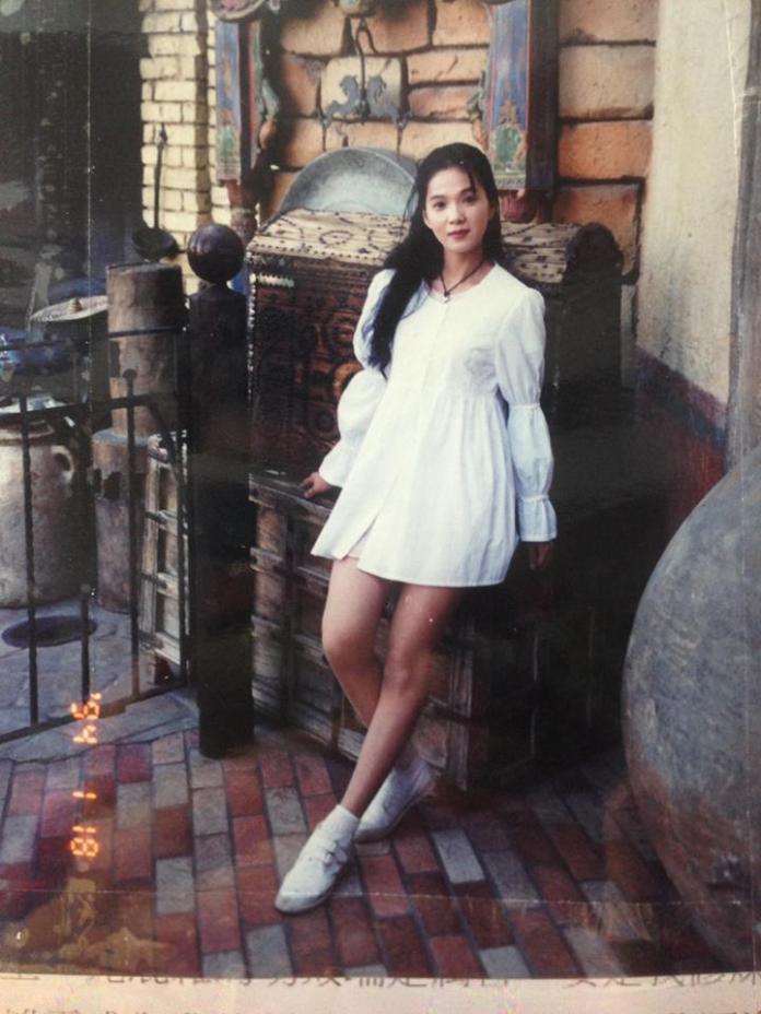 <br> ▲丁國琳年輕時清新脫俗,別於以往艷麗形象。(圖/翻攝臉書)