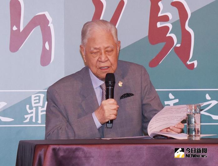 ▲前總統李登輝。(資料照/記者陳明安攝,2016.9.24)