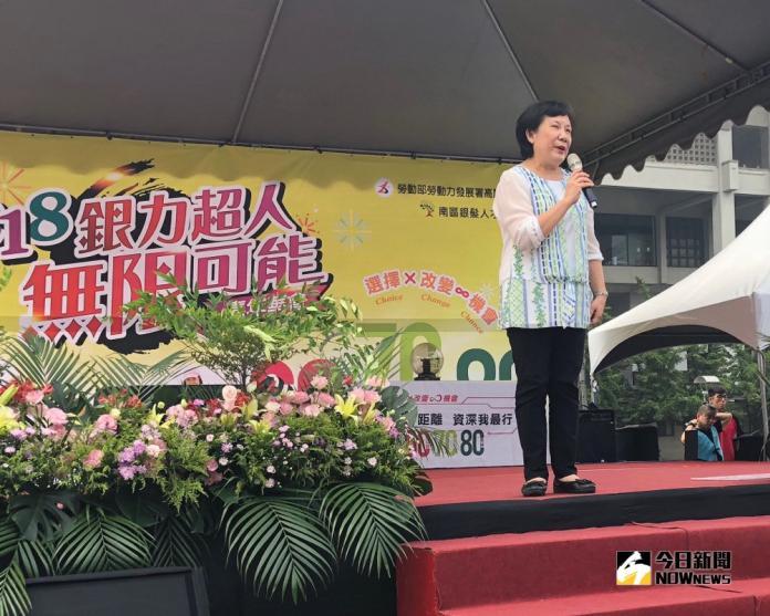 ▲勞動部勞動力發展署署長黃秋桂在會中致詞。(圖/記者黃守作攝,2018.10.27)