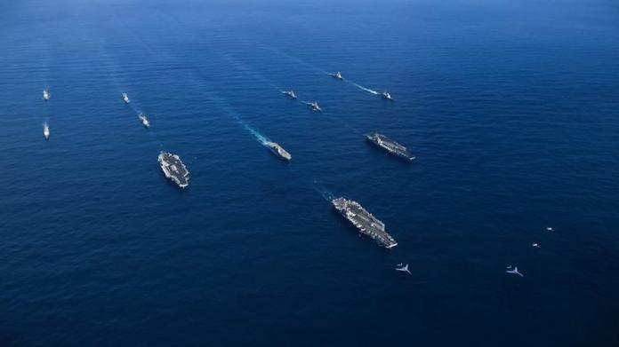 牽制中國 美日印澳聯合海上軍演11月登場