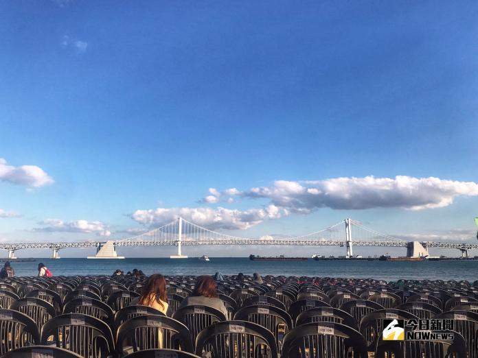 ▲釜山廣安里海水浴場。(圖/記者賴詠璿攝, 2018.11.01 )