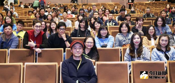 ▲富永昌敬(前排)發現台灣都是年輕人喜歡看他的電影。(圖/雄影,2018.11.03)
