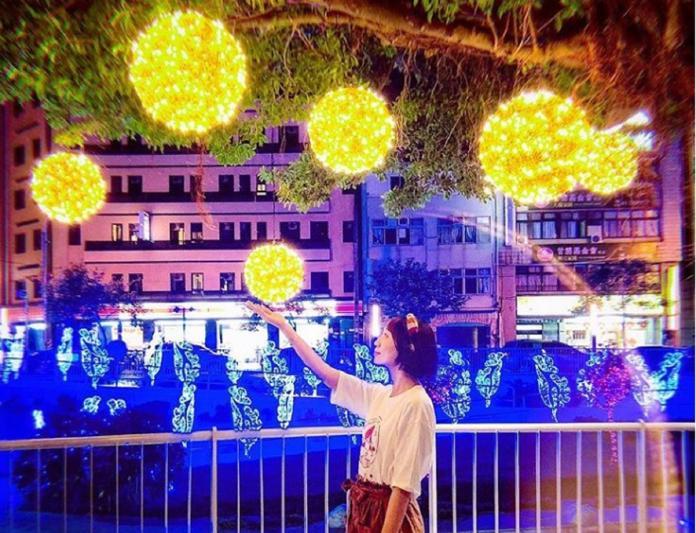台中柳川最新的燈光造景。(網友littlestar0202授權使用)