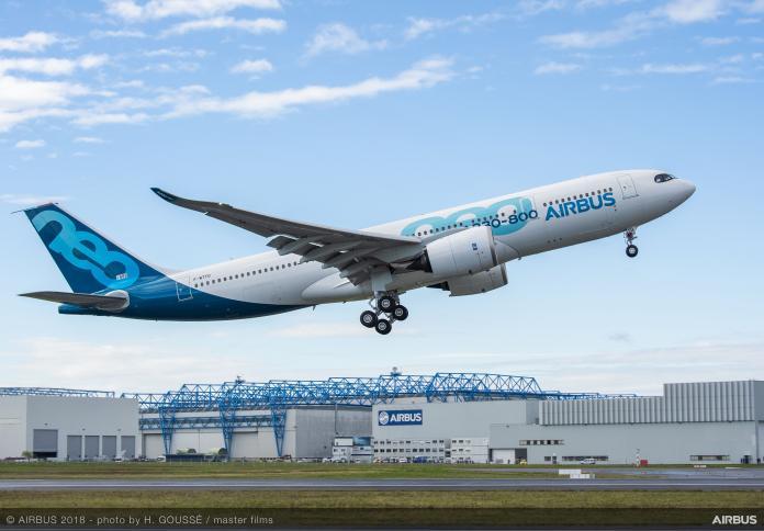 迎戰波音787 空巴A330-800完成首次試飛