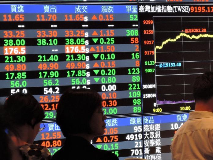 ▲美股大跌近400點,台北股市開盤也跌39.74點,加權股價指數以9788.95點開出後迅速下殺90點,隨後又拉回,跌幅縮小。(圖/NOWnews 資料照片)