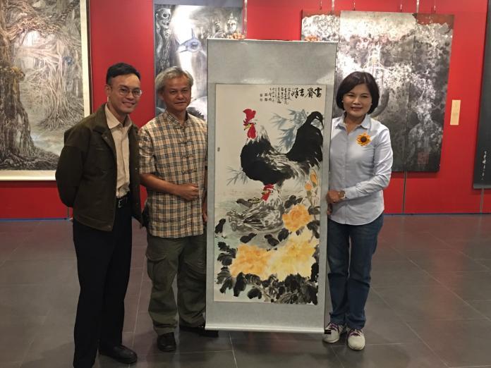 張麗善造訪水墨畫師<b>陳玄茂</b>父子聯展