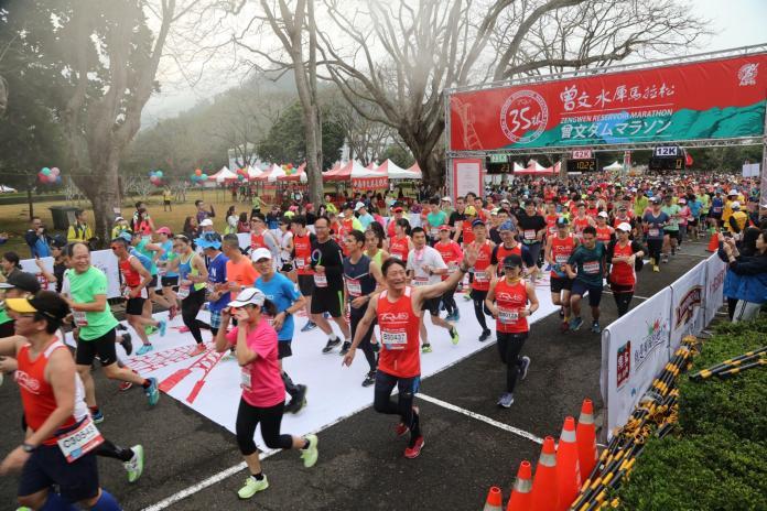 第35屆曾文水庫馬拉松 三千多名選手挑戰高難度賽道