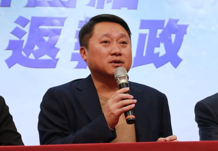 國民黨組發會主委李哲華。(圖/記者葉滕騏攝,2018.12.12)