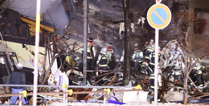 ▲北海道札幌居酒屋16日晚間發生嚴重爆炸。(圖/達志影像/美聯社)
