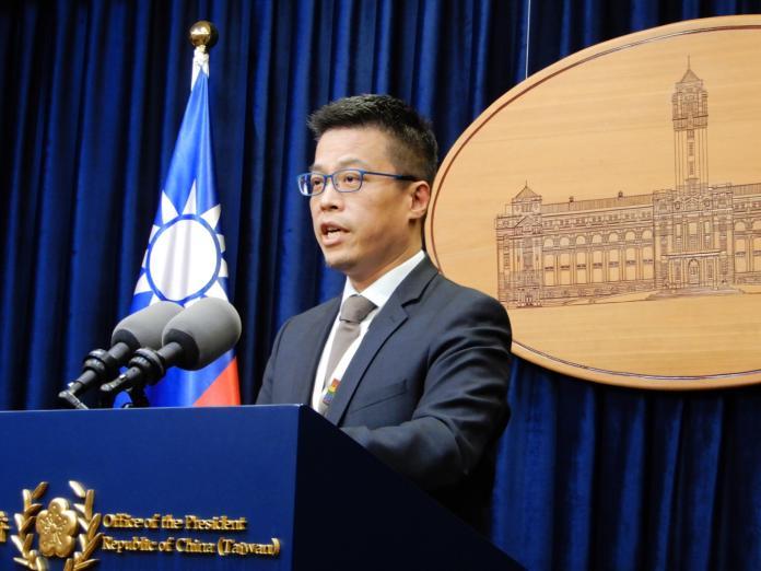 總統府發言人黃重諺。( 圖 / 記者陳弘志攝,2018.12.20 )