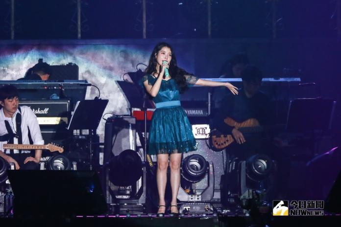 ▲IU台北演唱會。(圖/記者陳雅蘭攝)