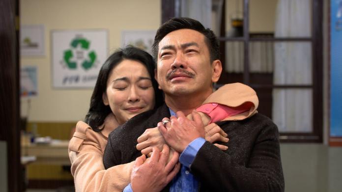 ▲江俊翰回歸大時代,劇中與江祖平感人重逢。(圖/民視提供)