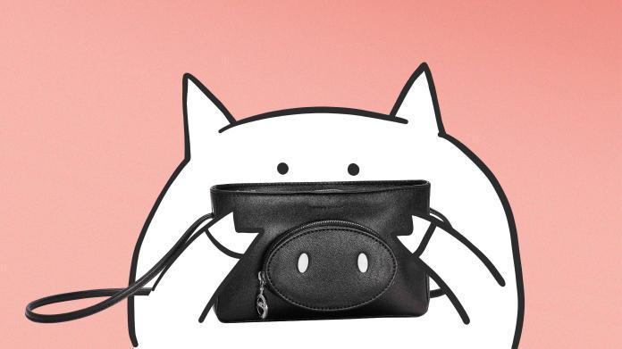 <br> 長了豬鼻的隨身小包超可愛啊!圖@Longchamp
