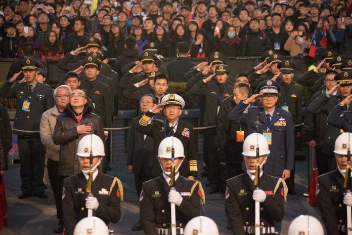 2019年元旦總統府升旗 邀「新台灣人」不邀國軍楷模唱歌