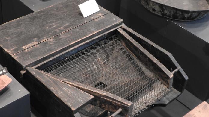 <br> 八雲早期的採礦用具。(圖/黃建霖攝)