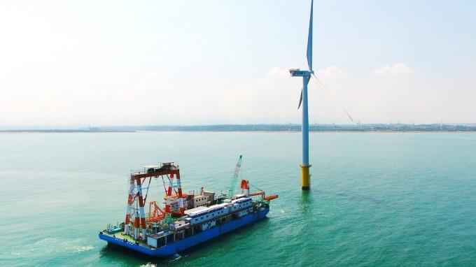 ▲ 穩晉港灣工程台灣首座離岸風場海洋風電(Formosa 1)第一階段海纜安裝施作廠商。(圖:沃旭提供)