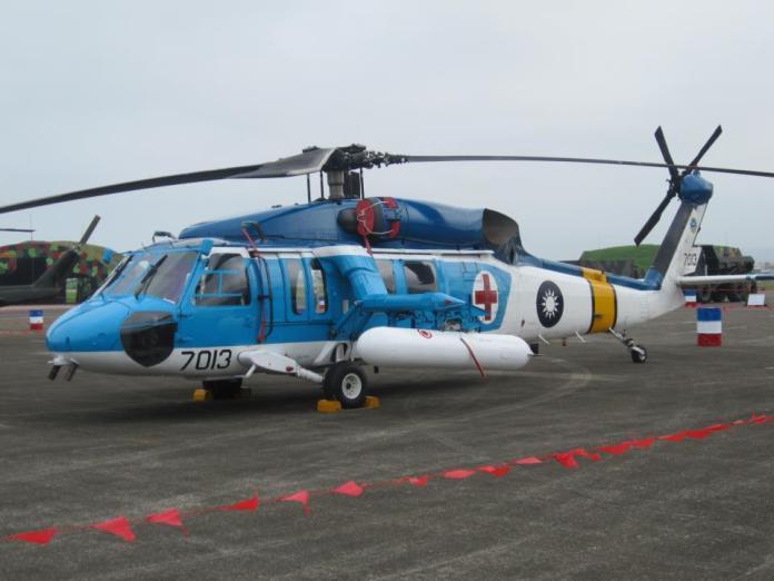 ▲空軍海鷗救護隊S-70C直升機。(圖/記者呂炯昌攝)