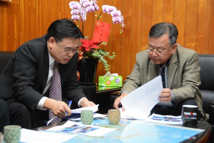 澎科大向賴峰偉請益 盼合作爭取海洋科技園區
