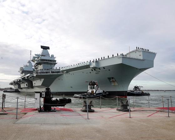 ▲伊莉莎白女王號是目前英軍唯一的一艘航艦。(圖/英國皇家海軍)