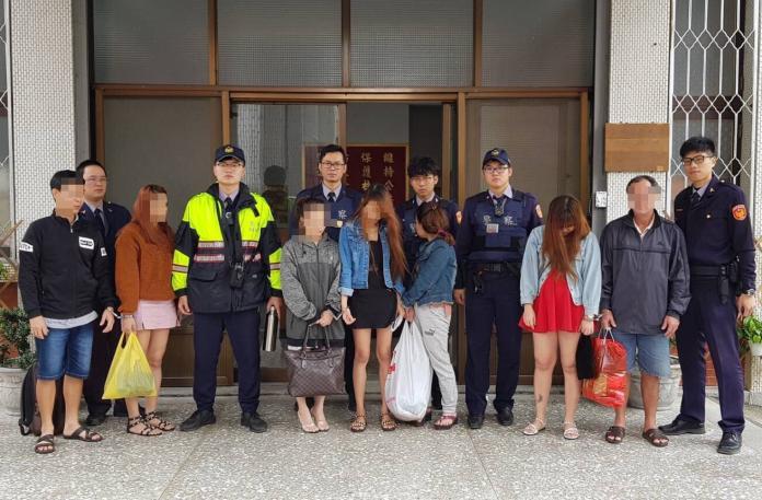 北港警再逮7越籍男女1