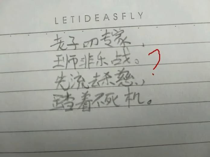 史上最高段小學生「<b>藏頭詩</b>」 陸網友:是人才,我跪了!