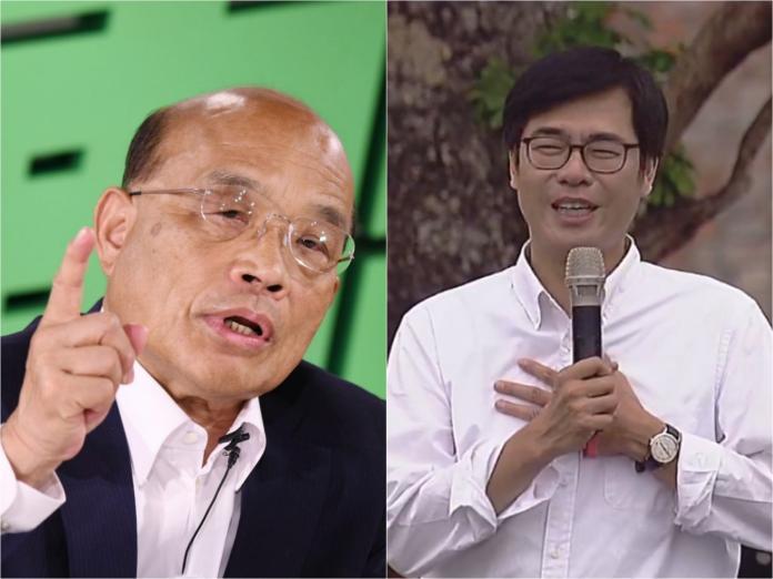 ▲行政院長蘇貞昌、副院長陳其邁。(合成圖/NOWnews)