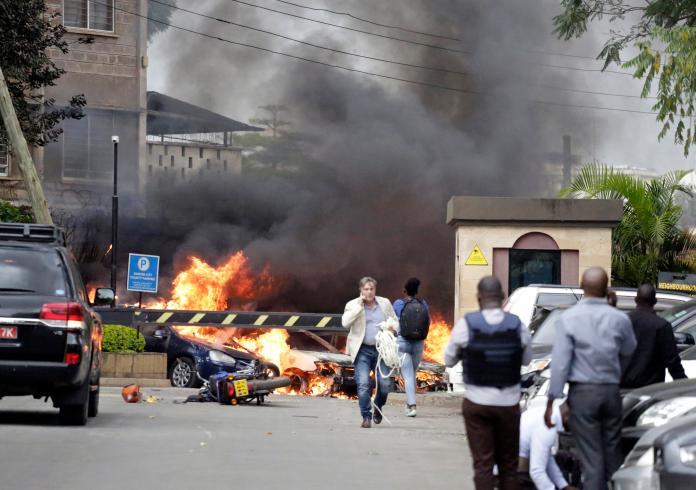 <b>肯亞</b>奈洛比飯店驚傳爆炸聲 青年黨宣稱犯案