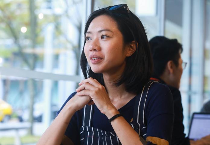 ▲普橘島特約私廚吳昇蓉,她喜歡將台灣當季在地食材結合自身日常體驗,調配出屬於自己的餐桌味道。(圖/記者葉政勳攝)