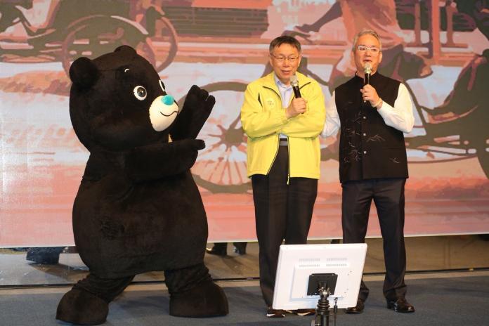 台北市長柯文哲出席國際扶輪3523地區獨居長者歲末餐會 。(圖/台北市政府,2019.1.21)