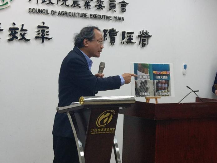農委會副主委黃金城表示,若是攜帶肉品入境的外國人未繳清罰款將拒絕入境。(圖/記者陳俐穎攝)