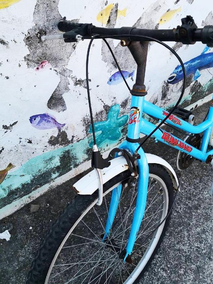 ▲男童腳踏車遭遊覽車撞到,所幸男童左手僅輕微骨折。(圖/記者郭俊暉翻攝 , 2019.01.24)
