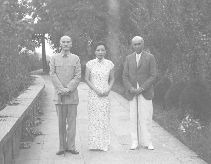 Chiang Kai-Shek,  Jawaharlal Nehru, Soong May-Ling, Madame  Chiang