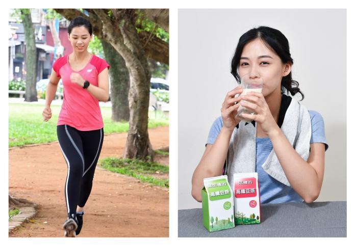 圖三、高纖豆漿搭配慢跑、飛輪、拳擊等有氧運動,幫助快速消耗內臟脂肪、打擊小腹。