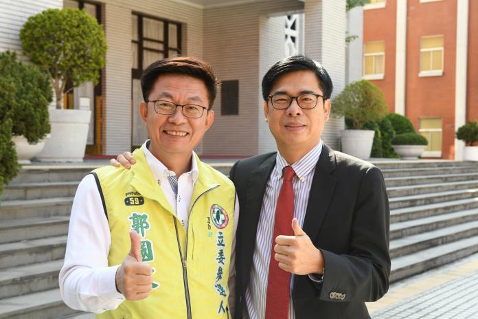 暖男陳其邁與郭國文同框賀歲  力挺進立法院