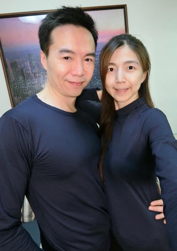 <br> ▲吳鈴山與妻子。(圖/臉書)