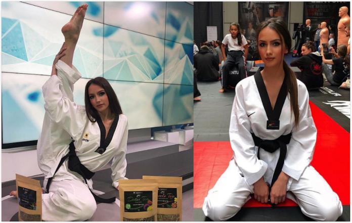 ▲莎拉( Sara Damnjanovic )長相出眾,自幼練習跆拳道,身材更是性感健美。(圖/翻攝自 IG )