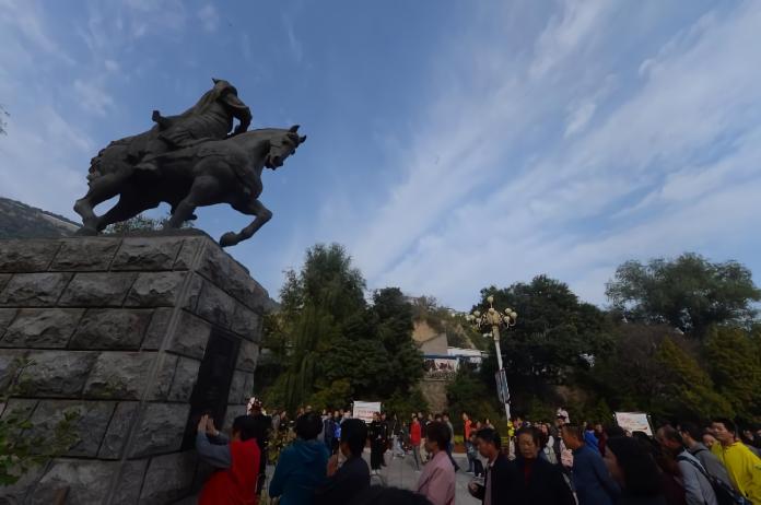 ▲甘肅蘭州五泉山公園的霍去病雕像。 (圖 / 翻攝自人民日報)