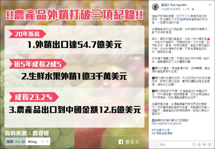蔡英文臉書