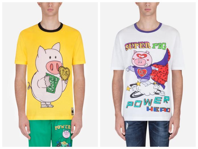 D&G再度辱華?<b>豬年</b>系列T恤再度挑起爭議