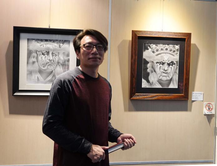 <br> ▲鹿港鎮圖書藝文中心推出「藝生活-藝流藝術創作群聯展」,歡迎喜愛繪畫藝術的鄉親前往觀賞。(圖/記者陳雅芳攝)