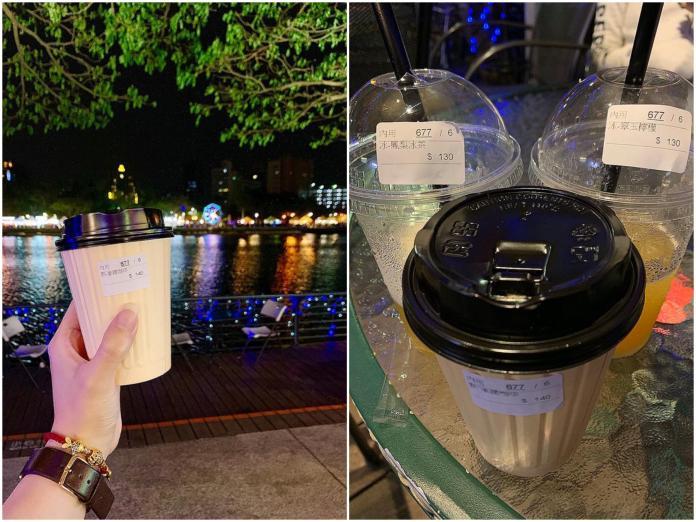 ▲網友 po 出愛河旁的飲料價格,狠酸:「難怪高雄發大財。」(圖/翻攝自爆怨公社)