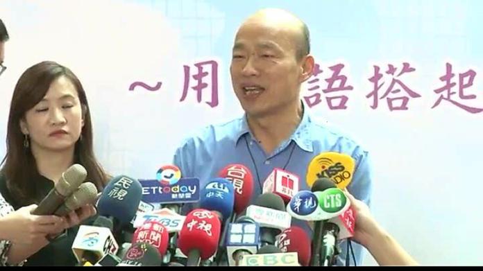 ▲高雄市長韓國瑜質疑農委會成立「國家隊」行銷台灣農漁產品只是疊床架屋。(圖/高市府提供)