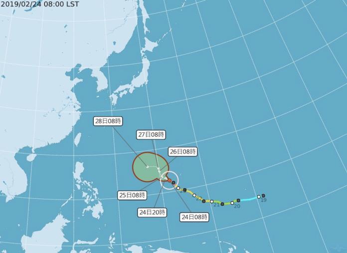 <br> ▲中央氣象局指出,今年的第 2 號颱風「蝴蝶」在昨(23)日晚間 8 時已增強為強烈颱風,為氣象局有紀錄以來第一個 2 月強颱。(圖/中央社資料圖片)