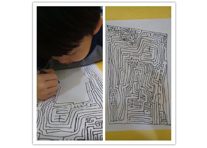 媽抱怨5歲兒超愛「畫<b>迷宮</b>」 網友一看驚呆:長大不得了