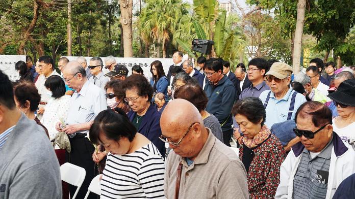 ▲高市府於二二八和平公園舉行「2019年高雄市二二八事件72週年追思紀念」。(圖/高市府提供)