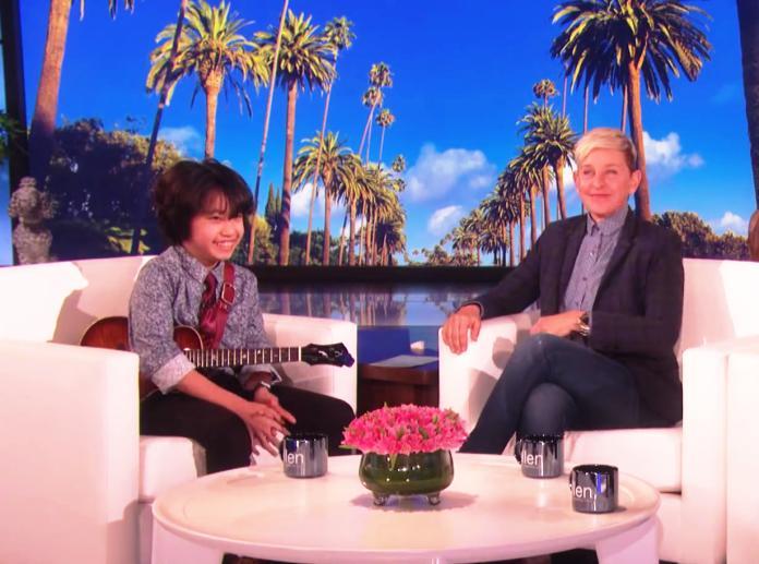 11歲烏克麗麗神童2度登<b>艾倫</b>秀 節目組送上「這大獎」