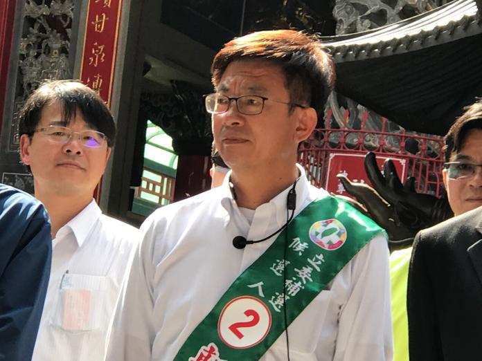 民進黨徵召前勞動部次長郭國文角逐台南立委補選,不過過去推動的一例一休卻成為他這次選舉的致命傷。(記者林人芳攝,2019,02,28)